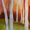 Diptych: Aspens Orange & Red Series II